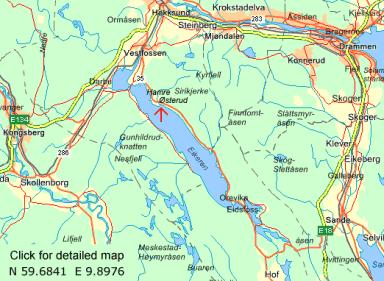 Local road map:  N 59.6841  E 9.8976